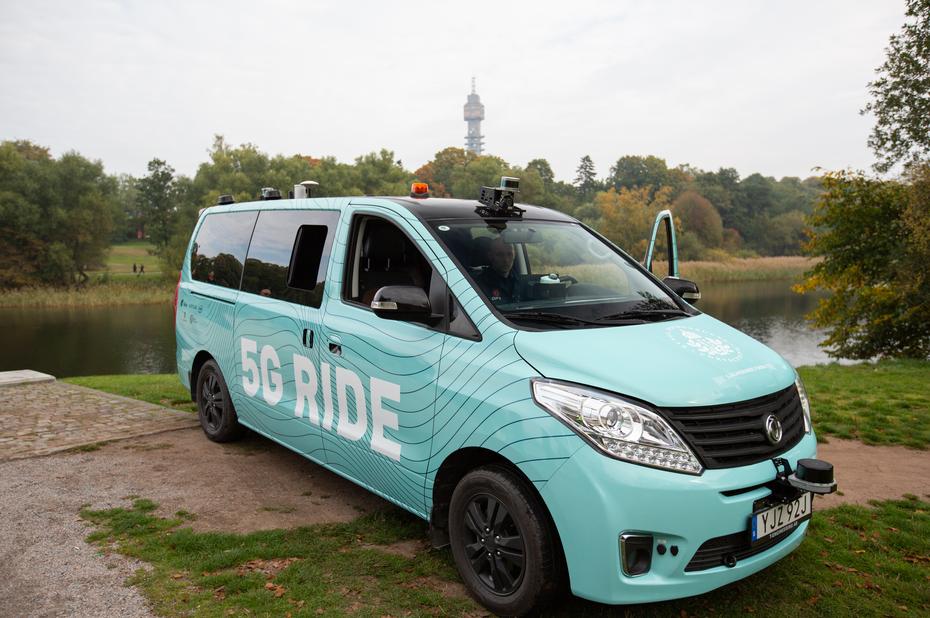 Ericsson, Intel et Keolis utilisent la 5G pour tester une navette autonome supervisée à distance
